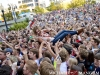 Fans crowdsurg as Grouplove performs at the 2012 X96 Big Ass Show at the Gallivan Center in Salt Lake City.