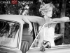 Whitney's vintage bridal session featuring a 1978 Rolls Royce.